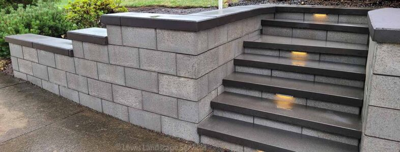 Retaining Wall & Steps, Project in Beaverton OR