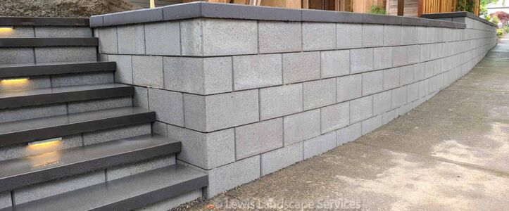 Retaining Wall & Steps, Project in Beaverton