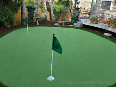 Putting Green Installation in Portland