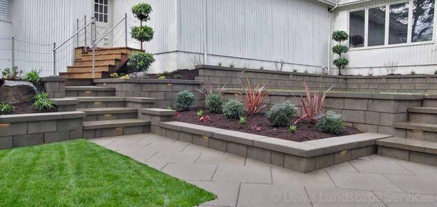 Retaining Walls & Steps We Built in Portland Oregon