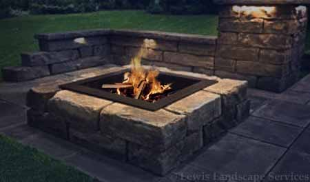Block Square Gas Fireplace