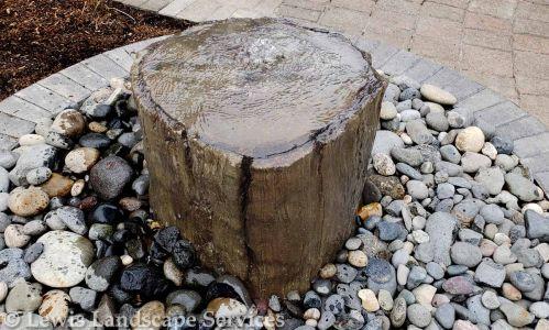 Tree Stump (Concrete Mold) Bubbler Fountain