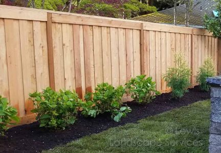 Shadow Box Style Fence we installed in Portland Oregon - Fence Installers
