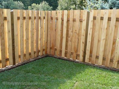 Good Neighbor Style Cedar Fence from a fence installation we did in Hillsboro Oregon