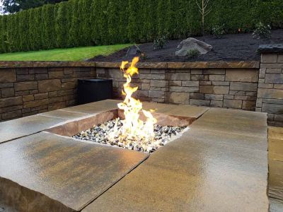 Square Block Gas Fire Pit