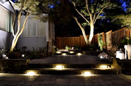2013 - Back Yard with Night Lighting