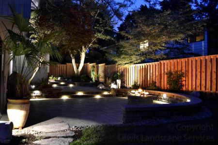 2013 - Back Yard with Night Lighting & Fire