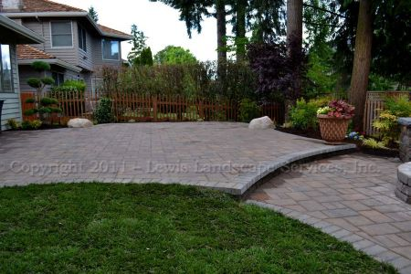 Two-Tiered Paver Patio