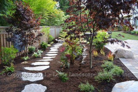 Flagstone Steps Through Landscape, Planting