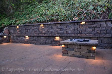 Segmental Retaining Walls Concrete Block Lewis Landscape