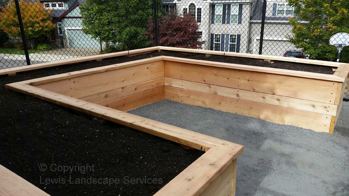 Cedar Raised Beds Garden Box from Project we did in Tigard, Oregon