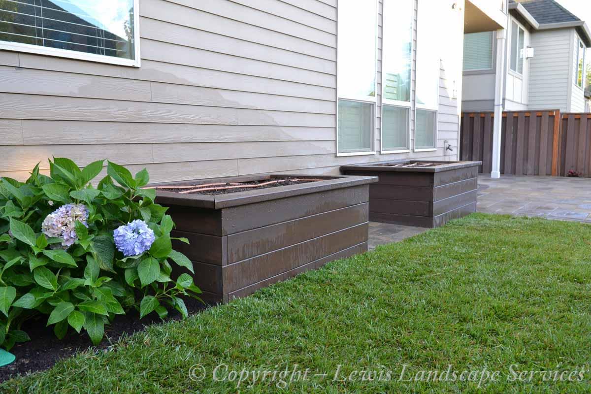Cedar Raised Beds Garden Box from Portland Oregon area installation