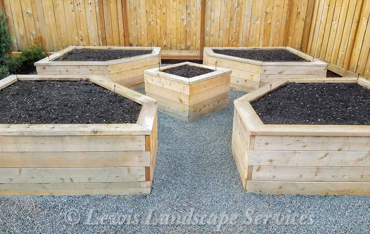 Cedar Raised Beds Garden Box from Beaverton Oregon Installation we did