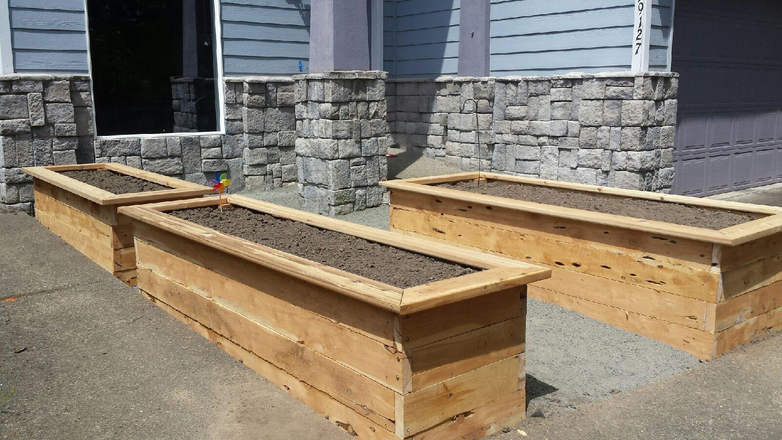 Cedar Raised Beds Garden Box from job we did in Hillsboro, OR
