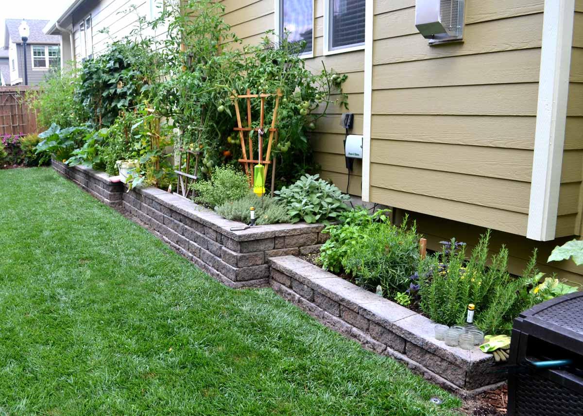 Raised Beds W Wall Block Gallery Lewis Landscape Services