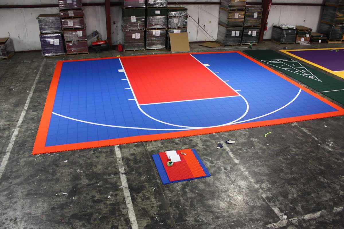Sport court at factory